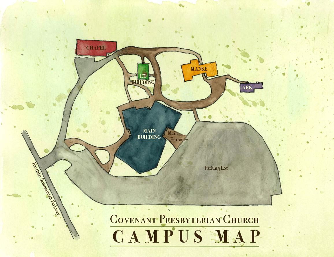Campus Map Covenant Presbyterian Church - Presbyterians us map